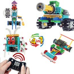 $enCountryForm.capitalKeyWord NZ - [TOP] 4 in 1 Remote control RC Tanks Knight 6 foot insect F1 racing car 237pcs Building blocks assembly electronic toy gift