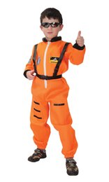 full body costumes for halloween Australia - Shanghai Story Kids Pilot Uniform Suit for Boy Spacesuit Costume Astronaut Body Suit Cosplay Children's One-piece Suits