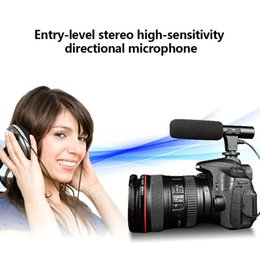 Dslr Camera Microphone Australia - Video Microphone Interview Recording Vlog Mic for DSLR Camera Nikon Canon Phones JLRJ88