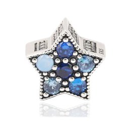 $enCountryForm.capitalKeyWord UK - New Authentic 925 Sterling Silver Bright Star Charm, Multi-Colored Crystals Beads Fit Brand Charms Bracelet Diy Fine Jewelry