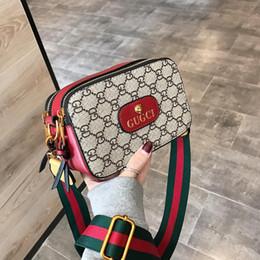 nueva tendencia de la moda Mensajero bolsa de impresión de la cabeza del tigre de las mujeres color del golpe pequeña bolsa cuadrada versión coreana bolsas de hombro salvaje V7 NUEVO en venta