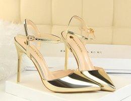Eu 45 shoE sizE online shopping - 2020 Women New Fashion Red Bottom High Heels Dress Shoes Party Shoe super high heel stiletto Peep Toe sandals big size EU to
