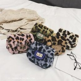 8b26f54681 Winter Girls Bag NZ - Leopard Shoulder Bags Fashion Winter Leopard Fluffy  plush Handbags Metal Chain