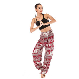 Yoga Pant Pattern Free UK - 2019 Top New Fashion explosion Thai Water Drop Yoga Pants, Lanterns Yoga Suit, Woman Silk Comfortable Travel Street Pants
