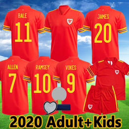 national soccer uniforms NZ - 2020 Wales soccer jerseys BALE JAMES RAMSEY Football Shirt camisetas wales Red national ALLEN VOKES WILSON Kit Adult Kids Uniforms