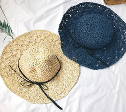 $enCountryForm.capitalKeyWord Australia - Straw hat women summer joker small fresh hand woven hat folding along the Korean version of the seaside holiday sun hat