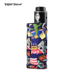 $enCountryForm.capitalKeyWord Australia - Vapor Storm Baby 80W RDA Vape Mods Kit Color Graffiti ABS Box Mods for 18650 Battery Electronic Cigarette Starter Kits