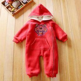 $enCountryForm.capitalKeyWord Australia - New 4 Colors Baby Rompers Winter Warm Fleece Clothing Set for Boys Cartoon Infant Girls Clothes Newborn Overalls Baby Jumpsuit