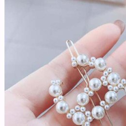 Delicate hair clips online shopping - Delicate Pearl Letters Hair Clips Barrettes k Gold Bobby Pins For Women Girl Charm Hair Jewelry