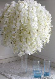valentines table decorations Australia - DIY Artificial White Wisteria Silk Flower 35cm For Home Party Garden Floral Decoration Living Room Valentine Day wedding Centerpieces Table