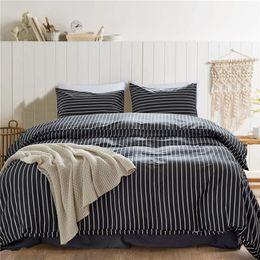 $enCountryForm.capitalKeyWord Australia - Pure Cotton Simple Duvet Cover Ruffle Set King Queen Twin Size 3pcs set 3D Print Geometrical Bedding Quilt Sheet 200*200