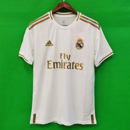 Real Madrid 19 20 Camisas De Futebol HAZARD JOVIC MILITAO camisa de futebol 2019 2020 VINICIUS JR ASENSIO camisa de futebol para crianças MARCELO ISCO kids camisa de futebol