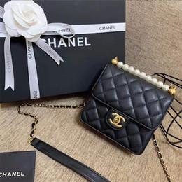 $enCountryForm.capitalKeyWord NZ - Trendy Pearl Ornament Women Crossbody Bags Personality Plaid Design Female Shoulder Bag Birthday Gifts For Girls Brand Bags