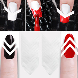 $enCountryForm.capitalKeyWord NZ - YZX 5Pcs Set Smile Nail Tape V-Shape Hollow Striping Line Tape French Edge Guide Tips Form Styling Template 3D Nails Stickers