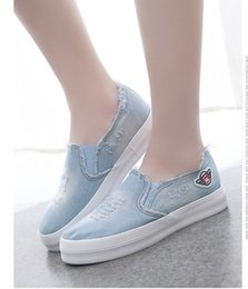 $enCountryForm.capitalKeyWord Australia - Summer Canvas Shoes, Female Thick-soled Rover Shoes, Water Wash Jeans Students, Lazy Shoes, Leisure Women's Skate Shoes