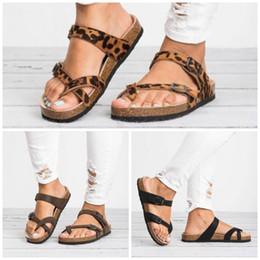 $enCountryForm.capitalKeyWord Australia - 2019 Rome Style Sandals Big Code Flat Bottom Anti Scald Slipper Summer Outdoors Ladies Eco Friendly Sawdust Leopard Print Shoes 27klI1