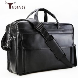 Computers 17 Inch Australia - tiding Europen Napa Cow Leather Briefcase Men's Business Handbag 17 inch Computer Bag Large Capacity Office Bag for Travel 1225 #215024
