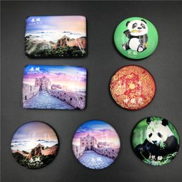 $enCountryForm.capitalKeyWord Australia - Crystal Refrigerator Magent Cute Panda Beijing Great Wall Dragon Chinese Characteristics Fridge Stickers Souvenir Gifts