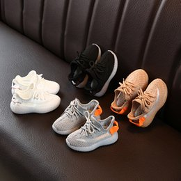 Chinese  Kids Designer Sneakers Hiphop Brand Shoes for Boys Girls Teens Active Breathable Running Shoes Eur 22-31 4 Colors manufacturers