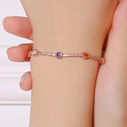 $enCountryForm.capitalKeyWord Australia - Wholesale Cheap Crystal Zricon Tennis Bracelet Rose Gold Plated Jewelry Bangles for Women Girls Friendship FWB014