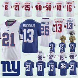 dd37ba4d1 New York Gaint jerseys 26 Saquon Barkley 10 Eli Manning 21 Landon Collins  13 Odell Beckham Jr 87 Sterling Shepard 2018 new jersey