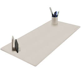 China Maidern Desk Pad Blotter,100x40cm Large Office Writing Desk Computer Leather Mat Mousepad with Pen Holder and Cell Phone Stand cheap writing mat suppliers
