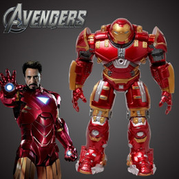 Marvel Iron Man Figure Australia - Marvel The Avengers 2 Age Of Ultron Iron Man Hulk Buster 14  17cm Light Action Figure Model Toy Hulkbuster kids toys