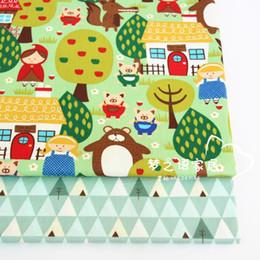 $enCountryForm.capitalKeyWord Australia - 160cm*50cm cotton fabric cartoon fabric forest tree infant baby DIY bedding apparel dress patchwork kids handwork cloth