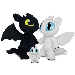 dragon night fury plush NZ - Anime How To Train Your Dragon 3 Light Fury Night Fury Toothless Dragon Plush Doll Toys Children Kids Birthday Gift CJ191220