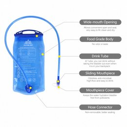 accessories water bag UK - AONIJIE Outdoor Cycling Running Foldable PEVA Water Bag Sport Hydration Bladder for Camping Bicycle Accessories Cycling Hiking Climbin Rjrr#