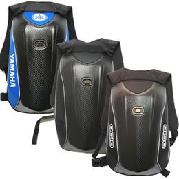Shell backpackS online shopping - 2019 Carbon fiber Motorcycle Backpack Waterproof Hard shell Tour Luggage Bag Multifunction Computer Double Shoulder Bag For Dain Yamaha OGIO