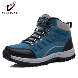 $enCountryForm.capitalKeyWord NZ - VESONAL Brand Outdoor Hiking Sneakers Men Shoes For Adult Winter Warm Short Plush Snow Boots Shoes Footwear Quality Waterproof