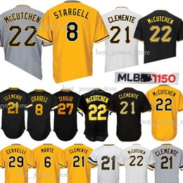 a42becb3517 Pittsburgh 21 Roberto Clemente 8 Stargell Majestic Baseball jerseys 29  Francisco Cervelli Pirates 27 Kent Tek Jersey 2019 TOP quality