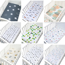 Wholesale Baby Bed Sheet Cotton Cartoon Soft Breathable Baby Bed Mattress Cover Crib Fitted Sheet Linens Newborn Cot Bedding