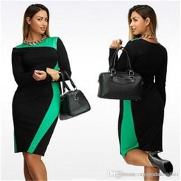 Plus size clubbing clothing online shopping - Womens Summer Designer Plus Size Dresses Crew Neck Long Sleeve Female Clothing Sexy Style Casual Apparel