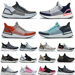 Cheaper Running Shoes Australia - Cheaper New Ultra UB 19 Running shoes For Men Women Dark Pixel Active Red True Pink Bat Orchid Refract sports Mens Trainers sneakers