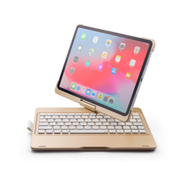 $enCountryForm.capitalKeyWord Australia - Bluetooth Keyboard Case for iPad Pro 11 inch 2018,360 Rotatable Wireless Keyboard with Backlit 7 Colors Supports Pencil 2nd Gen Charging
