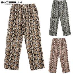 Yoga Pants Men Loose NZ - INCERUN 2019 Casual Pants Men Leopard Print Elastic Waist Fashion Loose Trousers Men Joggers Workout Yoga-pants Pantalon Hombre