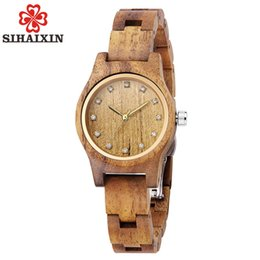 Wooden Gift Tags Australia - Top Brand Ladies Wooden Timepieces watch Small Girl Wristwatch Quartz Watches for Birthday Gift free shipping
