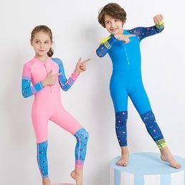 $enCountryForm.capitalKeyWord Australia - MrY Long Sleeves Kids Wetsuits Diving Suits for Boys Girls Children Rash Guards One Pieces Surfing Swim Snorkel children