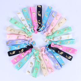 $enCountryForm.capitalKeyWord Australia - Women mermaid Trendy Elastic Hairband Bowknot Hand Band For Girls Hair Ties Headwear Tie Gum Rope Hair Accessories