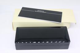 Luxury Pen Cases Australia - Luxury design Black pure Wood frame Pen Box For mb Fountain Pen Ballpoint Pen Roller Ball Pens Pencil Case with Black color Manual