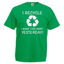 $enCountryForm.capitalKeyWord Australia - Mens Kelly Green I Recycle T-Shirt Funny Recycling Printed Vinyl TShirt UK