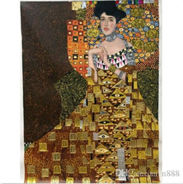 portrait size Australia - Gustav Klimt of Adele Bloch-Bauer I gold Handpainted & HD Print Classical Portrait Art Oil Painting On Thick Canvas Multiple Sizes p17