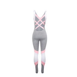 Fashion athletic wears online shopping - Outdoor Running Athletic Wear Women Conjoined Sport Suit Back Hollowing Out Motion Wears Breathable Gray Pink Fashion zf C1