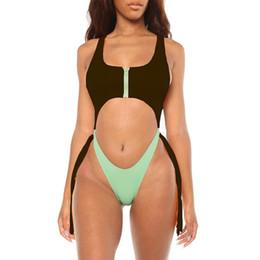 $enCountryForm.capitalKeyWord UK - Swimwear Women Sexy Black Zipper One Piece Swimsuit Women Summer 2019 Sexy Sport Bathing Swimming Suit For Women Stroj Kapielowy
