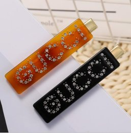 Diamonds Hair China Australia - 2019 New best selling letters leopard hair clips Rhinestone super flash full diamond side clips Gift accessories
