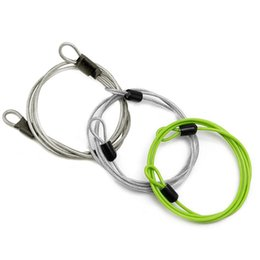Chinese  100cm x 2mm Cycling Sport Security Loop Cable Lock Bicycle Bikes Scooter U-Lock Q1107*20 manufacturers