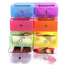 $enCountryForm.capitalKeyWord NZ - 7 Colour Eco-Friendly Shoe Storage Box Case Transparent Plastic Storage Box Rectangle PP Shoe Organizer Thickened Drawer Shoe Box 5Pcs set
