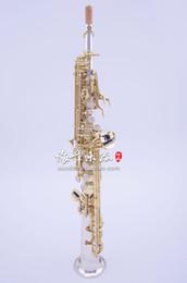 China YANAGISAWA 9930 B Flat Soprano Straight Tube Saxophone Brass Silver Plated Body Gold Lacquer Key Sax Musical Instruments Free Shipping cheap saxophone instrument keys suppliers